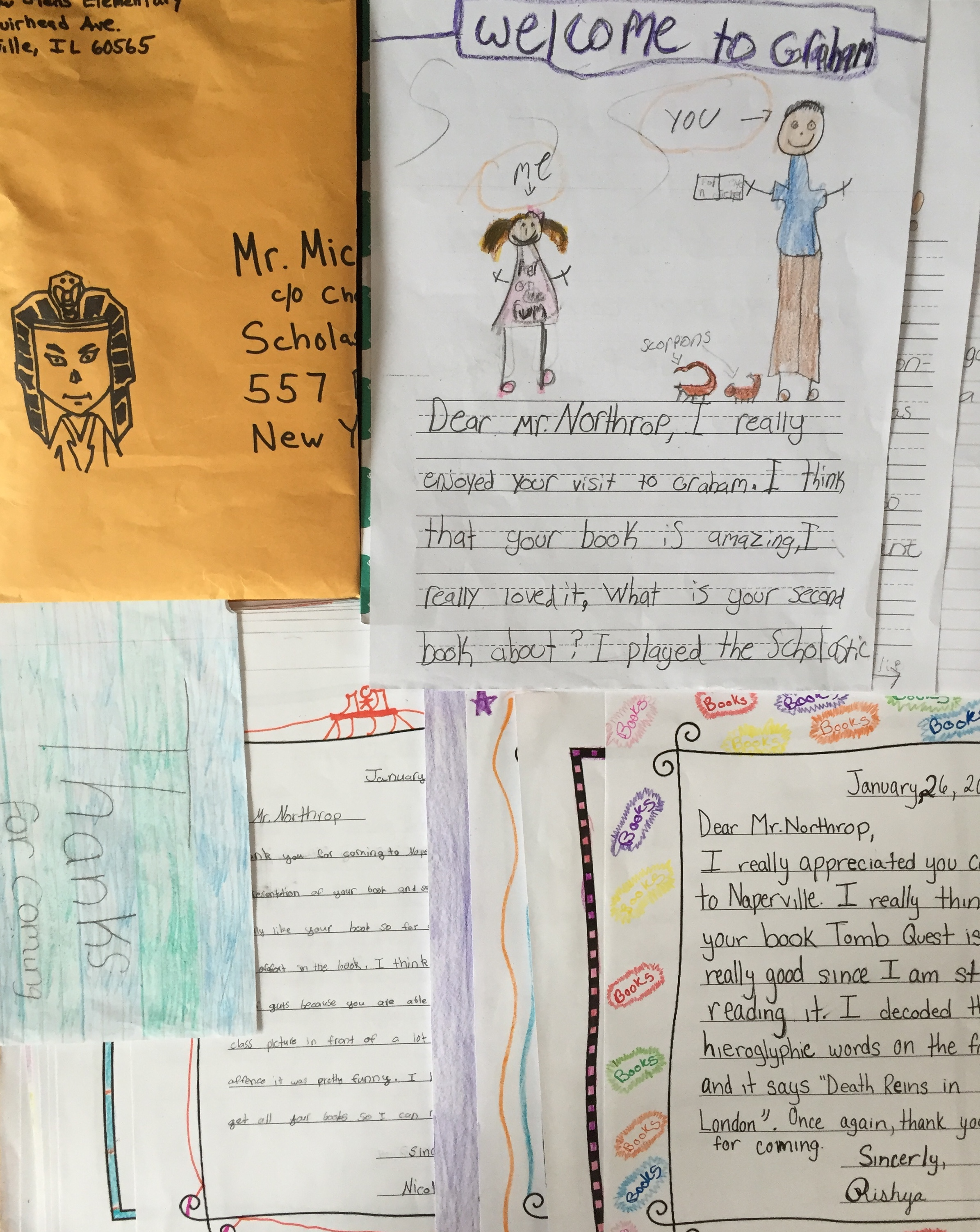 Epic Fan Mail From The Amazing (and Artistic) Kids In Naperville, Il!